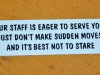 Staff Warning